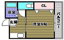 森井マンション[2階]の間取り