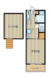 メゾンアモール[1階]の間取り