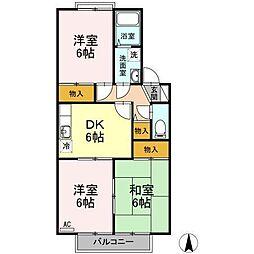 セジュール田中[203号室]の間取り