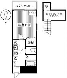 ローズヒダカA[201号室号室]の間取り