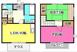 [テラスハウス] 埼玉県入間市東藤沢5丁目 の賃貸【/】の間取り