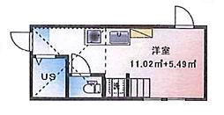 (仮称)ルームズ西早稲田B棟[205号室]の間取り