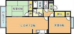 リオグランデ芳賀 A棟[2階]の間取り