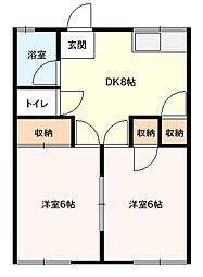 薫荘[104号室]の間取り