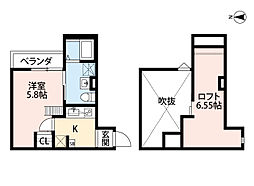 Osaka Metro千日前線 小路駅 徒歩3分の賃貸アパート 1階1SKの間取り