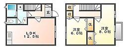 [テラスハウス] 岡山県倉敷市沖 の賃貸【/】の間取り