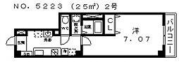 ルミエール駒川[402号室号室]の間取り