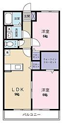 ヤマユウハウス山科[1階]の間取り
