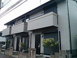 京都府京田辺市東鍵田の賃貸アパートの外観