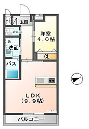 シェルル毛呂山[2階]の間取り