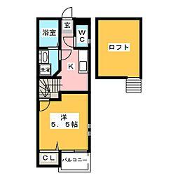 クレオ箱崎 北参番館[2階]の間取り