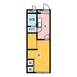 レオパレスのりくらI[1階]の間取り