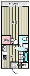 東水南上宿マンション[203号室]の間取り