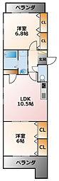 LUMIERE甲子園一番町[4階]の間取り