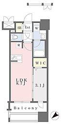 JR鹿児島本線 千早駅 徒歩4分の賃貸マンション 14階1LDKの間取り