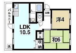 菅原三和マンション[3階]の間取り