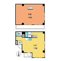 ハウス108今池公園[4階]の間取り