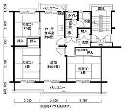 屋島第一5[5階]の間取り