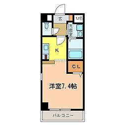 南海高野線 千代田駅 4分 アウローラ冨士 4階1Kの間取り