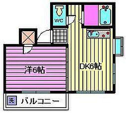 埼玉県さいたま市見沼区大和田町1丁目の賃貸マンションの間取り