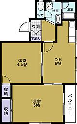 パステルハウス[2階]の間取り