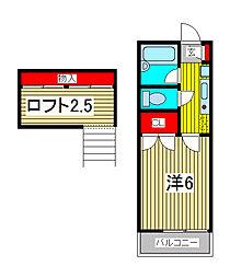 第1スカイハイツ戸田[2階]の間取り