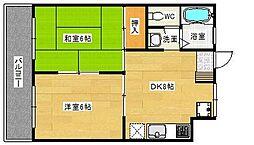 貞方第2ビル[5階]の間取り