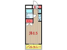 千葉県船橋市習志野台4丁目の賃貸マンションの間取り