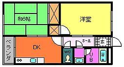 プラザ清[3階]の間取り