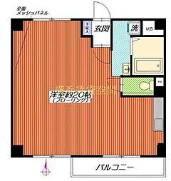 神奈川県横浜市南区堀ノ内町2丁目の賃貸マンションの間取り