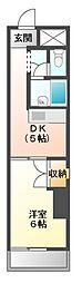 愛知県名古屋市天白区一つ山3丁目の賃貸マンションの間取り