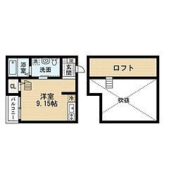 Lea吉塚(レア吉塚)[2階]の間取り
