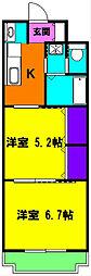 静岡県磐田市見付梅屋町の賃貸マンションの間取り