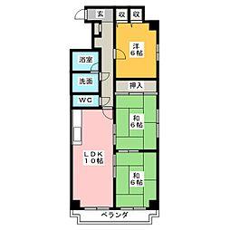 レジデンス泉[12階]の間取り