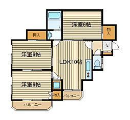ハイツSHIRANE[2階]の間取り