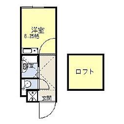 神奈川県相模原市南区相模大野6丁目の賃貸アパートの間取り