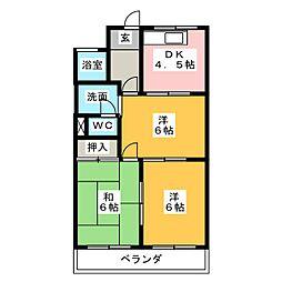 ハイツタクミール[2階]の間取り