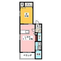 キャトルセゾン御器所[3階]の間取り