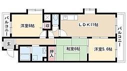 愛知県名古屋市南区鯛取通4丁目の賃貸マンションの間取り