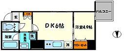 レオンコンフォート本町橋 9階1LDKの間取り