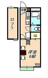 レオパレスクレール福田[1階]の間取り