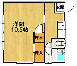 小川アパート[4号室]の間取り