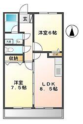 クレセントコート大澤[2階]の間取り