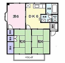 エスポワール馬場II[2階]の間取り