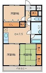 グランペールマンション[204号室]の間取り