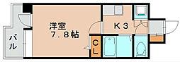 コンフォートスペース箱崎[7階]の間取り