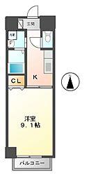 パラシオン車道 西館[4階]の間取り