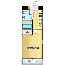 愛知県名古屋市中川区大畑町1の賃貸マンションの間取り