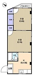 トラストホーム勝田台[2階]の間取り