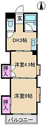 東京都北区王子本町1丁目の賃貸マンションの間取り